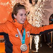 NLD/Amsterdam/20180226 - Thuiskomst TeamNL, Alice Das