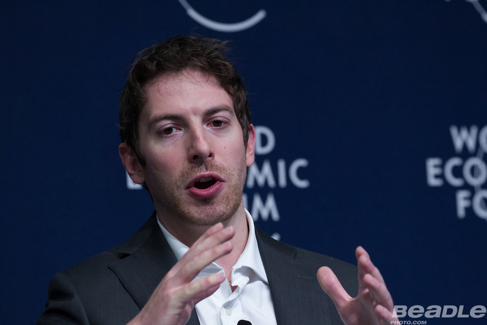 Toby Norman, Chief Executive Officer<br /> Simprints Technology at the World Economic Forum on Africa 2017 in Durban, South Africa. Copyright by World Economic Forum / Greg Beadle