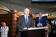 MAYOR BORIS JOHNSON;  , The Galleries of Modern London launch party at the Museum of London on May 27, 2010 in London. <br /> -DO NOT ARCHIVE-© Copyright Photograph by Dafydd Jones. 248 Clapham Rd. London SW9 0PZ. Tel 0207 820 0771. www.dafjones.com.