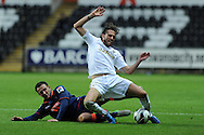Swansea city's Michu . Pre-season friendly match, Swansea city v Blackpool at the Liberty Stadium in Swansea, South Wales on Tuesday 7th August 2012. pic by Andrew Orchard, Andrew Orchard sports photography,