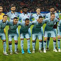 06.11.2019, BayArena, Leverkusen, Championsleague, Vorrunde, 4. Spieltag, GER, UEFA  CL, Bayer 04 Leverkusen (GER) vs. Atletiko Madrid (ESP),<br />  <br /> UEFA regulations prohibit any use of photographs as image sequences and/or quasi-video<br /> <br /> im Bild / picture shows: <br /> Mannschaftsfoto Atletiko Madrid<br /> <br /> Foto © nordphoto / Meuter<br /> <br /> <br /> <br /> Foto © nordphoto / Meuter