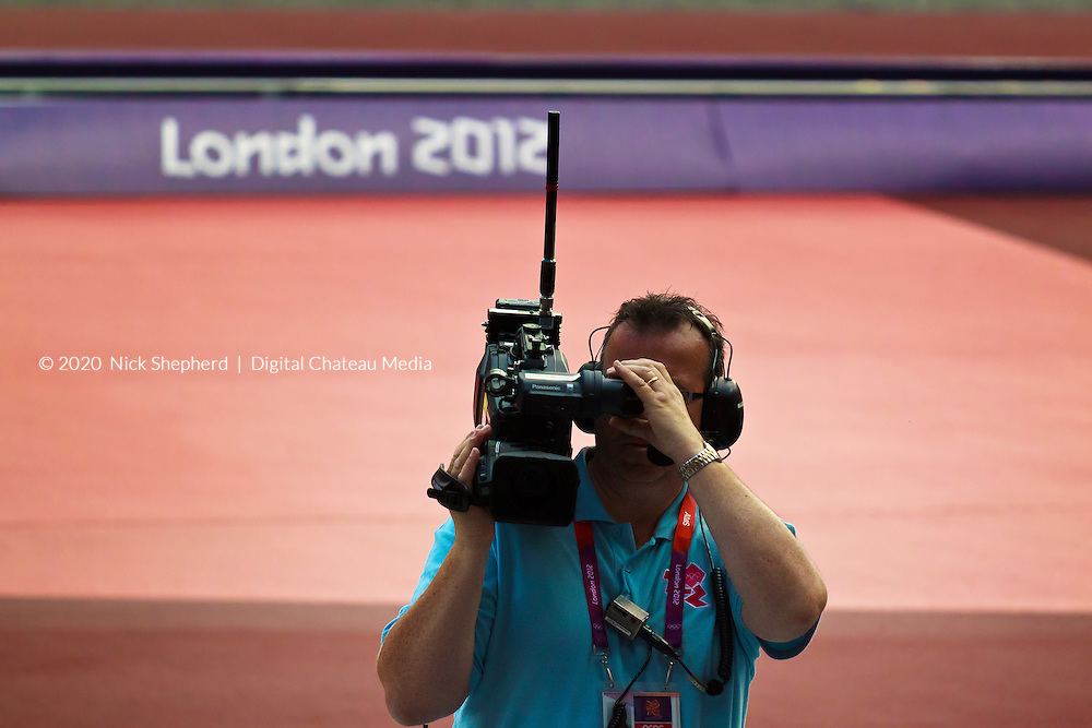 Cameraman at London 2012 Olympic Games - August 6th.
