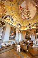 The audience room of the Queen. The Kings of Naples Royal Palace of Caserta, Italy. A UNESCO World Heritage Site .<br /> <br /> Visit our ITALY HISTORIC PLACES PHOTO COLLECTION for more   photos of Italy to download or buy as prints https://funkystock.photoshelter.com/gallery-collection/2b-Pictures-Images-of-Italy-Photos-of-Italian-Historic-Landmark-Sites/C0000qxA2zGFjd_k<br /> <br /> <br /> Visit our EARLY MODERN ERA HISTORICAL PLACES PHOTO COLLECTIONS for more photos to buy as wall art prints https://funkystock.photoshelter.com/gallery-collection/Modern-Era-Historic-Places-Art-Artefact-Antiquities-Picture-Images-of/C00002pOjgcLacqI