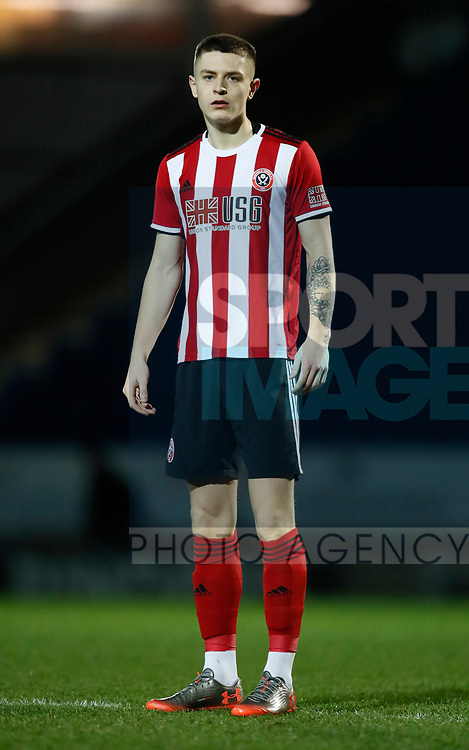Ashton Hall of Sheffield Utd during the Professional Development League  match at the Proact Stadium, Chesterfield. Picture date: 3rd February 2020. Picture credit should read: Simon Bellis/Sportimage