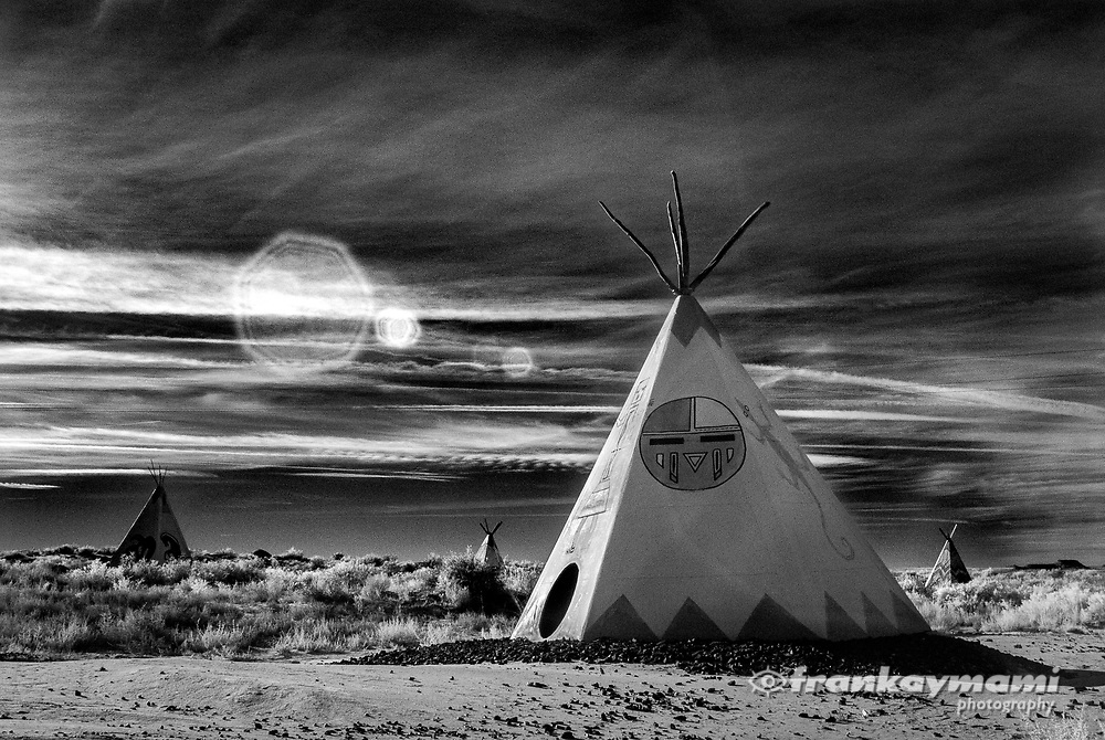 Infrared images of the Painted Desert Indian Center in Holbrook, AZ