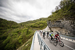 Riders near Kobarid during 2nd Stage from Portoroz to Soca, 303km at Day 2 of DOS 2021 Charity event - Dobrodelno okrog Slovenije, on April 28, 2021, in Slovenia. Photo by Vid Ponikvar / Sportida