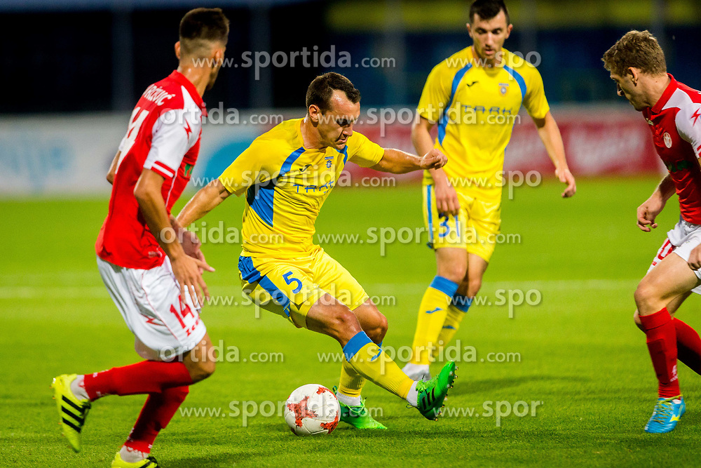 Luka Volaric of NK Domzale during football match between NK Domžale and NK Aluminij in 6th Round of Prva liga Telekom Slovenije 2017/18, on August 20, 2017 in Sports park Domzale, Domzale. Photo by Ziga Zupan / Sportida