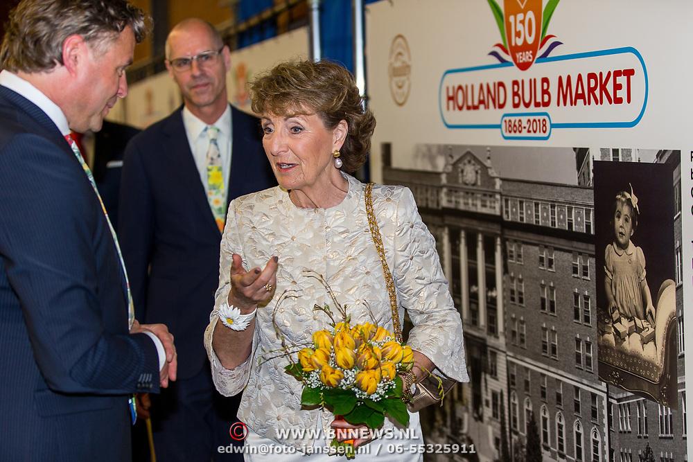 NLD/Heiloo/20180420 - Prinses Margriet bij jubileum Holland Bulb Market, Prinses Margriet en Joris van de Velden