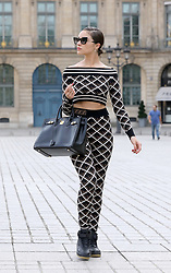 EXCLUSIVE: Olivia Culpo hits the streets of Paris wearing Fendi for fashion week. 18 Sep 2018 Pictured: Olivia Culpo. Photo credit: KCS Presse / MEGA TheMegaAgency.com +1 888 505 6342