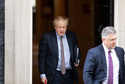 © Licensed to London News Pictures. 11/02/2020. London, UK. Prime Minister Boris Johnson departs 10 Downing Street . Photo credit: George Cracknell Wright/LNP