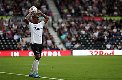 Derby County's Andre Wisdom during the Sky Bet Championship match against Leeds United at Pride Park, Derby
