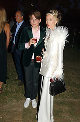 DAPHNE GUINNESS and her son NICK NIARCHOS at the Serpentine Gallery Summer party sponsored by Yves Saint Laurent held at the Serpentine Gallery, Kensington Gardens, London W2 on 11th July 2006.<br />