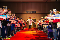 Anthony Rizzo of the Chicago Cubs greeting fans at the Cubs annual Cubsfest in Chicago