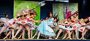 Alice in Wonderland , modern jazz ballet performed on main street Ushuaia, Argentina