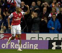 Photo: Daniel Hambury.<br />Reading v Arsenal. The Barclays Premiership. 22/10/2006.<br />Arsenal's Theirry Henry celebrates his second goal. 0-4.