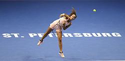 February 2, 2018 - St. Petersburg, Russia - Russian Federation. Saint-Petersburg. SIBUR arena. Tennis. WTA. St. Petersburg Ladies Trophy 2018. Women. Darya Kasatkina - Caroline Wozniacki. (Credit Image: © Russian Look via ZUMA Wire)