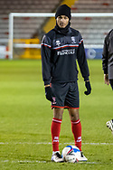 Lincoln City Defender Max Melbourne (3) before the EFL Sky Bet League 1 match between Lincoln City and Shrewsbury Town at Sincil Bank, Lincoln, United Kingdom on 15 December 2020.