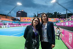 PORTOROZ, SLOVENIA - SEPTEMBER 19: Anja Vreg and Katarina Srebotnik at Singles final during the WTA 250 Zavarovalnica Sava Portoroz at SRC Marina, on September 19, 2021 in Portoroz / Portorose, Slovenia. Photo by Vid Ponikvar / Sportida