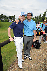 Left to right, RONAN KEATING and DOUGRAY SCOTT at the Mini Masters Golf tournament in aid of LEUKA - London's first celebrity golf tournament held at Duke's Meadow Golf Club, Dan Mason Drive, London W4 on 14th July 2008.<br /> <br /> NON EXCLUSIVE - WORLD RIGHTS