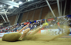 Triple  jump athlete in the Qualification at the 1st day of  European Athletics Indoor Championships Torino 2009 (6th - 8th March), at Oval Lingotto Stadium,  Torino, Italy, on March 6, 2009. (Photo by Vid Ponikvar / Sportida)