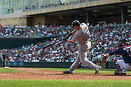 Adam Dunn #32 of the Chicago White Sox hits a home run during a game against the Minnesota Twins on September 16, 2012 at Target Field in Minneapolis, Minnesota.  The White Sox defeated the Twins 9 to 2.  Photo: Ben Krause