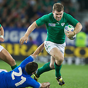 Gorbon D'Arcy, Ireland, in action during the Ireland V Italy Pool C match during the IRB Rugby World Cup tournament. Otago Stadium, Dunedin, New Zealand, 2nd October 2011. Photo Tim Clayton...