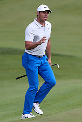 June 21, 2018 - Cromwell, Connecticut, United States - CROMWELL, CT-JUNE 21: Rory McIlroy waves to the gallery after chipping on to the 15th green during the first round of the Travelers Championship on June 21, 2018 at TPC River Highlands in Cromwell, Connecticut. (Credit Image: © Debby Wong via ZUMA Wire)