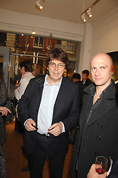 DJ MIKE READ at a private view of artist Hsiao-Mei Lin's paintings held at the Adam gallery, 24 Cork Street, London on 28th April 2008.<br /><br />NON EXCLUSIVE - WORLD RIGHTS