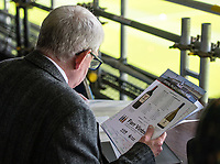 LONDON, ENGLAND - MAY 13: John Motson from BBC   during the Premier League match between Crystal Palace and West Bromwich Albion at Selhurst Park on May 13, 2018 in London, England. MB Media
