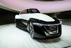 Nissan Bladeglider concept electric car at Tokyo Motor Show 2013 in Japan