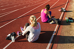 Adrian Martinez Classic track meet, runners change shoes