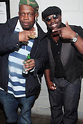 17 May 2011- New York, NY -  l to r: Jeru the Damager and Black Thought backstage at the Kool Herc Tribute  and Melle Mel Birthday Celebration Produced by Jill Newman Productions and held at BB Kings on May 17, 2011 in New York City. Photo Credit: Terrence Jennings