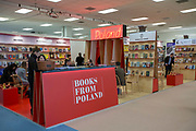 Books from Poland during day two of the London Book Fair on the 13th March 2019 at London Olympia in the United Kingdom.