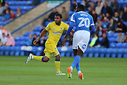 AFC Wimbledon striker Andy Barcham (17) during the EFL Cup match between Peterborough United and AFC Wimbledon at ABAX Stadium, Peterborough, England on 9 August 2016. Photo by Stuart Butcher.