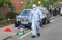 © Licensed to London News Pictures. 19/08/2018<br /> New Eltham, UK. Police forensics at the scene of a Hammer attack on two women in New Eltham, south east London. Police are currently searching for 27 year old Joe Xuereb in connection with the attack. <br /> Photo credit: Grant Falvey/LNP