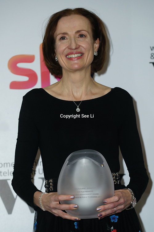 London Hilton, Park lane, England, UK. 1st December 2017. Marianne Jenkins attends the Sky Women in Film and TV Awards.