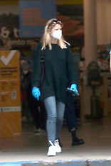 Shia LaBeouf and Mia Goth are both seen leaving Petco with a puppy - 19 April 2020