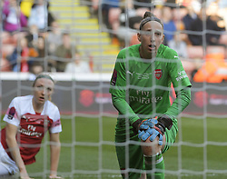 February 23, 2019 - Sheffield, England, United Kingdom - Relief as Sari Van Veenendaal (Arsenal) saves a shot at goal      during the  FA Women's Continental League Cup Final  between Arsenal and Manchester City Women at the Bramall Lane Football Ground, Sheffield United FC Sheffield, Saturday 23rd February. (Credit Image: © Action Foto Sport/NurPhoto via ZUMA Press)
