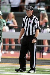 19 September 2015:  Head Linesman Peter King during an NCAA division 3 football game between the Simpson College Storm and the Illinois Wesleyan Titans in Tucci Stadium on Wilder Field, Bloomington IL