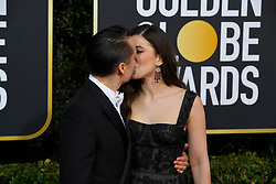 January 5, 2020, Beverly Hills, California, USA: KIERAN CULKIN AND JAZZ CHARTON during red carpet arrivals for the 77th Annual Golden Globe Awards, at The Beverly Hilton Hotel. (Credit Image: © Kevin Sullivan via ZUMA Wire)