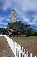 NC00561-00...NORTH CAROLINA - Old Baldy Lighthouse on Bald Head Island at the mouth of the Cape Frear River.