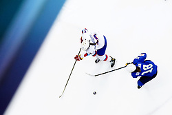 Iceland's Gunnborg Johannsdottir (left) and Slovenia's Tamara Svetina battle for the puck during the Beijing 2022 Olympics Women's Pre-Qualification Round Two Group F match at the Motorpoint Arena, Nottingham.