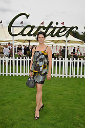 Actress NEVE CAMPBELL at the 25th annual Cartier International Polo held at Guards Polo Club, Great Windsor Park, Berkshire on 26th July 2009.