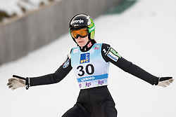 February 8, 2019 - Ursa Bogataj of Slovenia on first competition day of the FIS Ski Jumping World Cup Ladies Ljubno on February 8, 2019 in Ljubno, Slovenia. (Credit Image: © Rok Rakun/Pacific Press via ZUMA Wire)