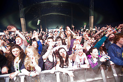The crowd as The View play the Golden Voice tent..Sunday at Rockness 2012..©Michael Schofield..
