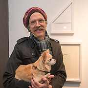 Martin Creed is an artist attend the Art On The Mind - Private view of an exhibition and auction which benefits homeless charity, Cardboard Citizens.
