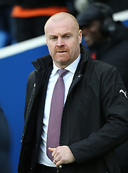 """Burnley manager Sean Dyche during the Premier League match at the AMEX Stadium, Brighton. PRESS ASSOCIATION Photo. Picture date: Saturday December 16, 2017. See PA story SOCCER Brighton. Photo credit should read: Gareth Fuller/PA Wire. RESTRICTIONS: EDITORIAL USE ONLY No use with unauthorised audio, video, data, fixture lists, club/league logos or """"live"""" services. Online in-match use limited to 75 images, no video emulation. No use in betting, games or single club/league/player publications."""