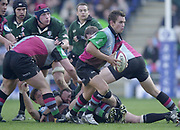 Twickenham, Surrey, 16th March 2003, Zurich Premiership Rugby, The Stoop Memorial Ground, England, [Mandatory Credit; Peter Spurrier/Intersport Images]<br /> 16/03/2003<br /> Sport - Rugby  Zurich Premiership <br /> London Irish v Harlequins<br /> Blly Fulton runs claer of the scrum.