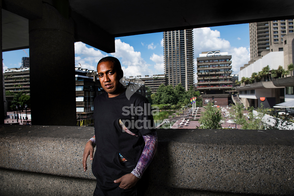 American dancer and choreographer, Trajal Harrell pictured at Barbican Centre, City of London.<br /> Picture by Daniel Hambury/Stella Pictures Ltd 07813022858<br /> 10/07/2017