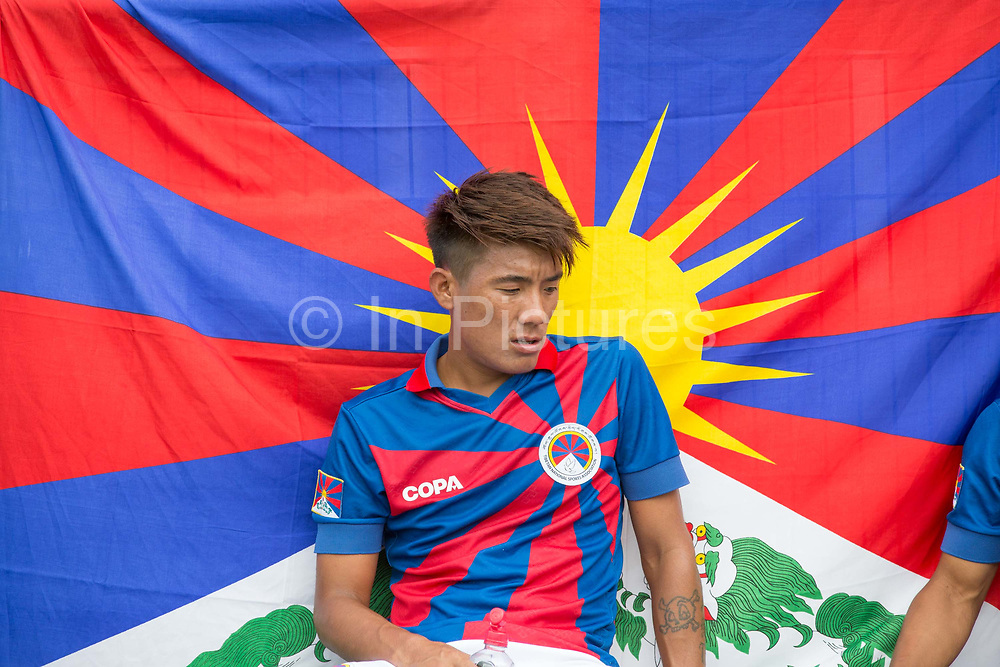 Tenzin Bhakdo during half time for Tibet. London Turkish All-Stars Vs Tibet during the Conifa Paddy Power World Football Cup Placement Match A on the 5th June 2018 at Bromley in the United Kingdom. London Turkish All-Stars 4 Tibet 0. Tibet were due to play Ellan Vannin, although Ellan Vannin were withdrawn by CONIFA. Ellan Vannin's withdrawal comes following a vote of the tournament management committee on Monday 4 June, which rejected a challenge by Ellan Vannin to the eligibility of a Barawa player. The CONIFA World Football Cup is an international football tournament organised by CONIFA, an umbrella association for states, minorities, stateless peoples and regions unaffiliated with FIFA.